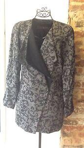 lana in nera Giacca Escada vintage e taglia fine grigia 38 BEBnq5