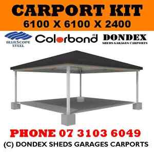Dondex Double Hip Roof Carport Kit 6 1x6 1x2 4 Colorbond Roof Facia Gutters Ebay