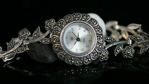 Turkish-Handmade-Jewelry-Watch-Sterling-Silver-925-Bracelet