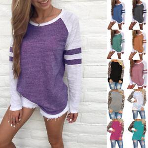 Women-039-s-Long-Sleeve-Casual-Ladies-Shirt-Basic-T-shirt-Tops-Plus-Size-Blouse-Tee