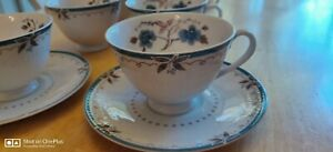 ROYAL-DOULTON-English-Translucent-Old-Colony-TC-1005-4-Cups-and-4-Saucers