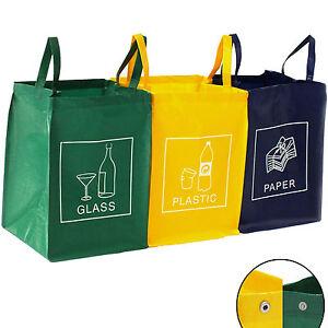 lot de 3 sacs pour le tri et le recyclage des d chets. Black Bedroom Furniture Sets. Home Design Ideas