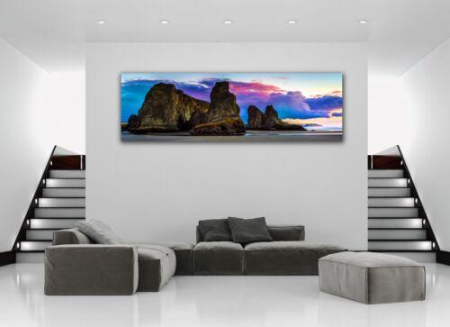 Rocky Shore Bandon Oregon Panoramic Picture Canvas Print Home Decor Wall Art