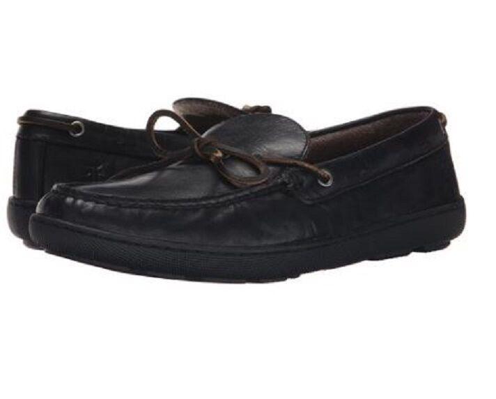 198 NEW BX FRYE Mens US 12 EUR 46 Hugh Tie Black Leather Moccasin Loafers shoes