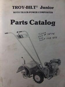 Details About Troy Bilt Walk Behind Junior Roto Tiller Composter Parts Manual Garden Way