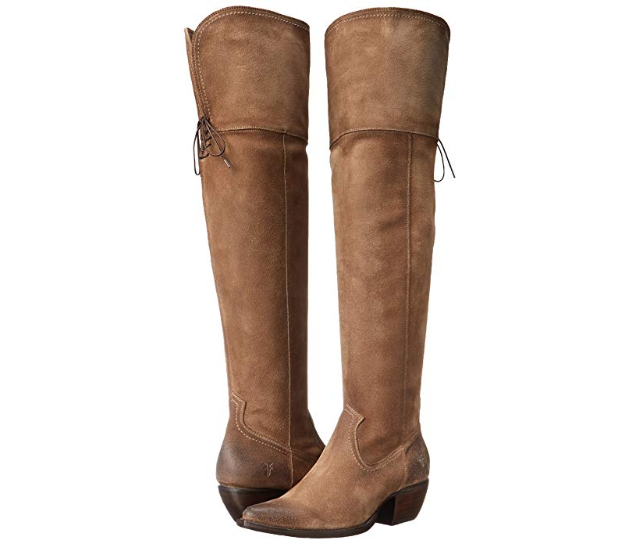 New in Box FRYE Womens Sacha Over The Knee Western Boot ASH 6 M US