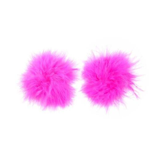 HOT PINK FLUFFY NIPPLE TASSLE//TASSEL BURLESQUE FANCY DRESS HEN PARTY