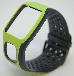 58f49199b9a TomTom NEW Comfort Strap BLACK GREEN Runner Multi-Sport GPS watch ...