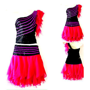 Kinder Madchen Damen Cheerleader Kostum Kleid Fasching Cosplay Gr