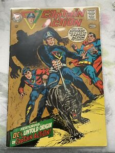 Captain-Action-1968-series-1-in-Very-Fine-minus-condition-DC-comics-bc