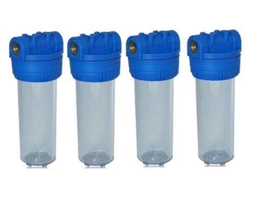 """4x Filtergehäuse 10 Zoll 3//4/"""" Vor Filter Wasserfilter Brunnen Trinkwasser Pumpen"""
