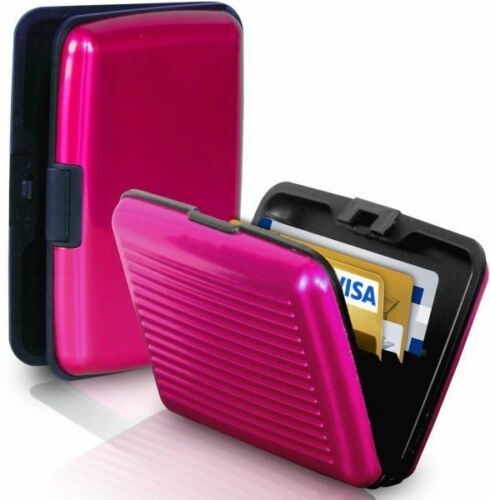 Card Caddy the safe way to store your credit cards aluminium case
