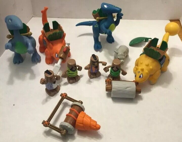 Lot Little Tikes BC Builders 4 Cavemen 4 4 4 Dinosaurs 2 Accessories bf5a80