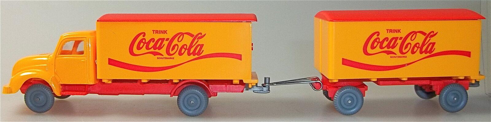 Coca Cola Magirus round Hood Hgv orange Red Imu H0 1 87 Å