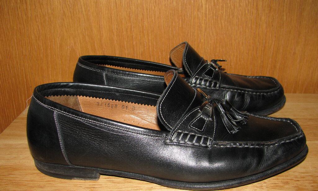 SANTONI Homme en Cuir Mocassins à gland Chaussures Taille 9D