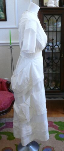 1910`s Edwardian White Dress Titanic Style Unusual