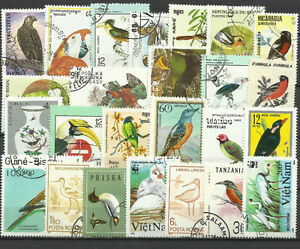 BIRDS-Collection-Packet-25-Different-Stamps-Lot-2