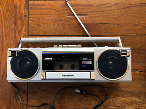 Vintage Panasonic RX-F2 Ambience Boombox Stereo Cassette Player Tested