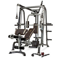 Marcy Home Gym Smith Cage System MD-9010G Weight Training Circuit Combo Machine