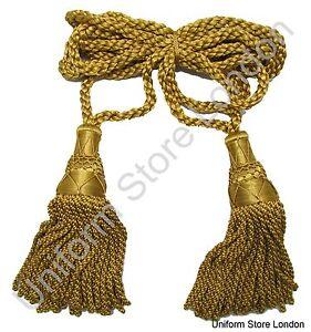 Cordon-CLAIRON-ceremonial-Stewart-corde-pour-Marching-bandes-dore-SOIE-R1536