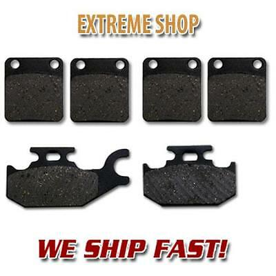 TWO Sets Performance Plus Organic Brake Pads Suzuki LTA400 2002-2007 Front
