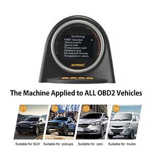 Velocimetro-Digital-autool-HUD-Alarma-de-exceso-de-velocidad-motor-OBD2-Codigo-Lector-mph-Tacometro