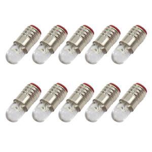 E501WT 10 Sets E5 Screw Bulb and Stand Base E5.5 12V-14V Bright White LED for modle Train Layout