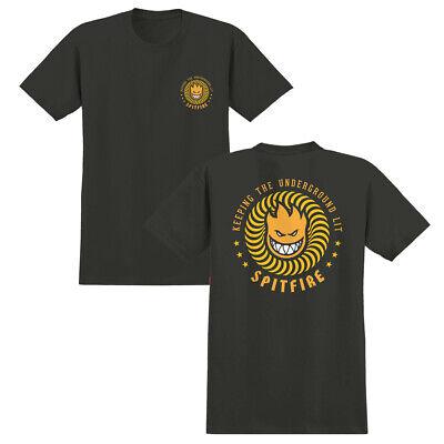 Spitfire Skateboards T Shirt KTUL Tar//Orange All Sizes Mens Skateboard Wheels