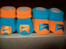 Baby Boy NIKE Infant Booties - Size Newborn (0 - 6 Months) NEW IN BOX - TWO PAIR