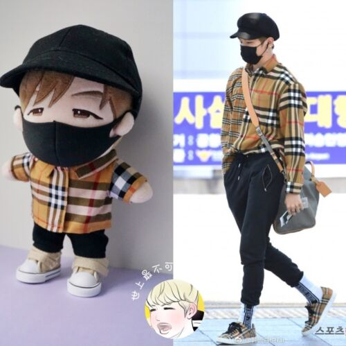 Hand-made WANNA ONE STICKE Kang Daniel Doll Clothes Shirt Pant Suit Hat mask Be