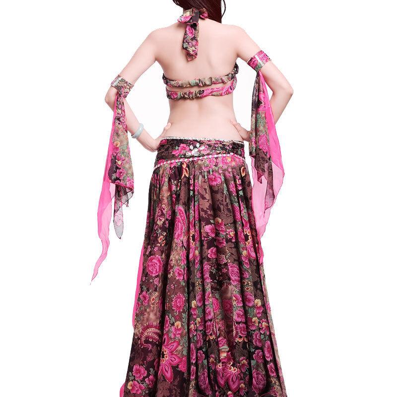C925 4 teil.Profi Bauchtanz Kostüm mit mit mit C  D Cup Belly Dance 2dc453