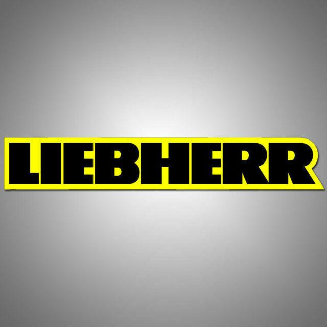 Liebherr Vinyl Decal Sticker 6 0 X 1 0 Logo Black With Yellow Background 3m For Sale Online Ebay
