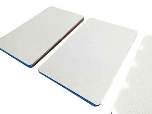 25 Plastikkarten WEISS METALLICPERLMUTTPVC KartenKunststoffkarten