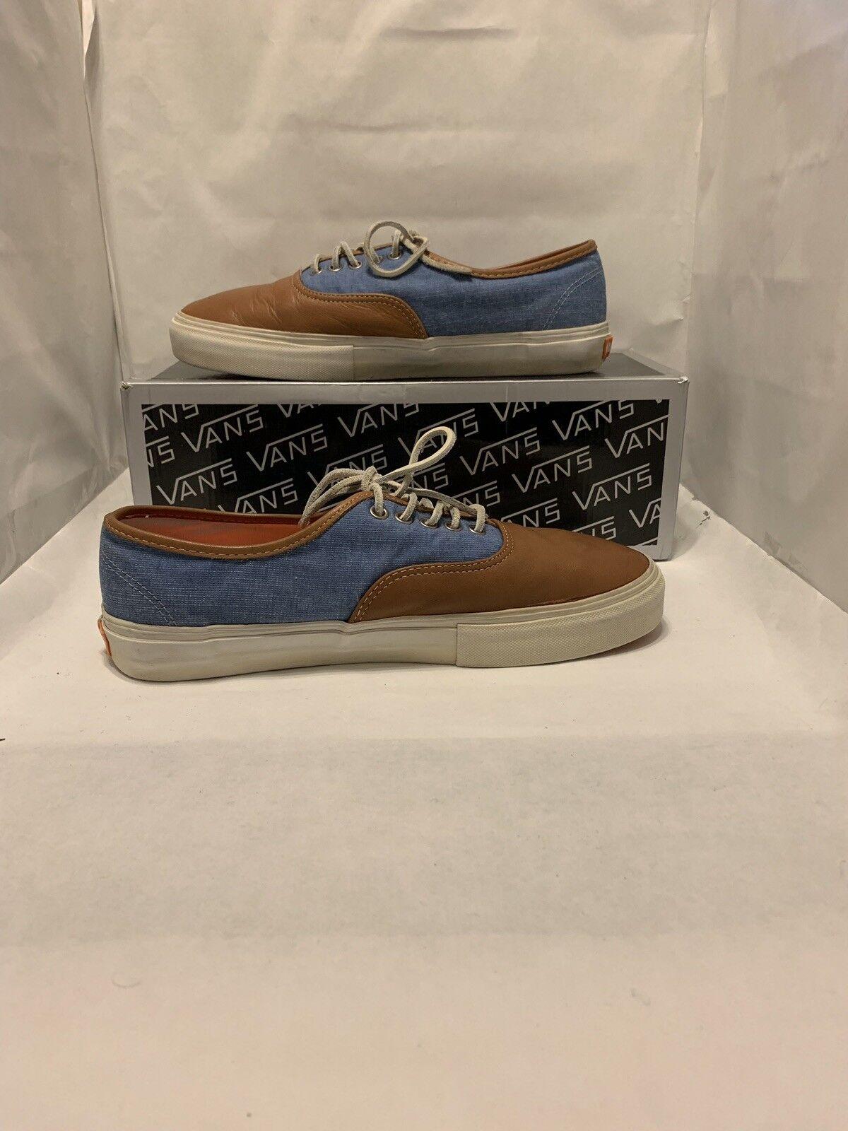 Vans Vault Authentic LX x Kicks HI (Kicks Hawaii) Brown bluee Size 10 Used