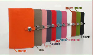 100-Genuine-leather-Multi-Color-Passport-Clutch-Purse-Handbag-Cards-Holder