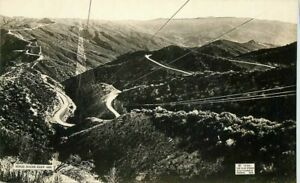 1921-Ridge-Route-Los-Angeles-Bakersfield-Flag-Studio-Newhall-to-Baileys-RPPC