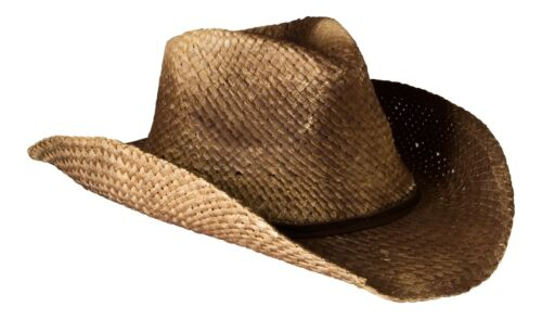 Brown Straw With Shapeable Brim Vintage Style Unisex Cowboy Hat