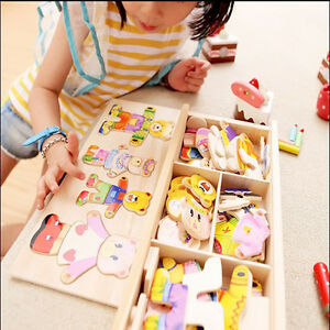 Wooden-Baby-Bear-Changing-Clothes-Puzzle-Set-Children-Kids-Educational-Toys
