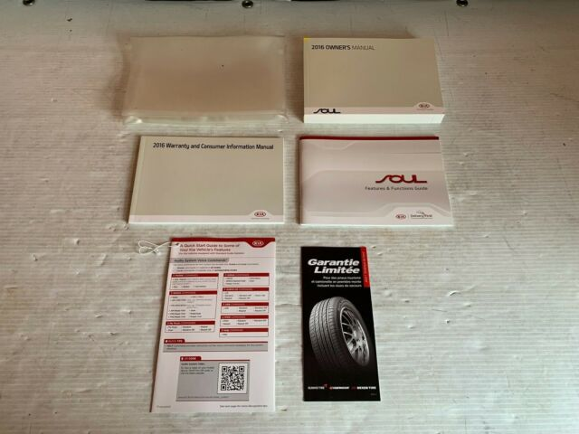 2020 Kia Soul Owner Manual Set With Case Free Shipping Manual Guide