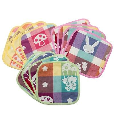 Pack of 12 KaWaii Baby 100% Muslin Cotton Baby Cloth Wipes