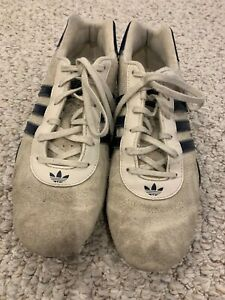 Details about Adidas Racing Team Goodyear Soles Driving Shoes Men's Size 9 White Suede