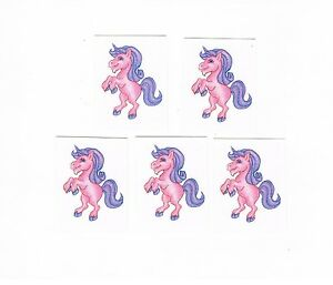 5-x-Glitter-Pink-Unicorn-Temporary-Tattoos-Great-Kids-Party-Favours