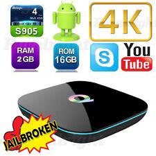 2G/16G 4K Quad Core Q Box Android 6.0 Smart Sets TV Box support wholesale