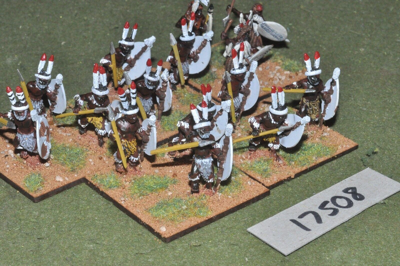25mm colonian african     zulu tribesmen 15 figures (17508) ca6