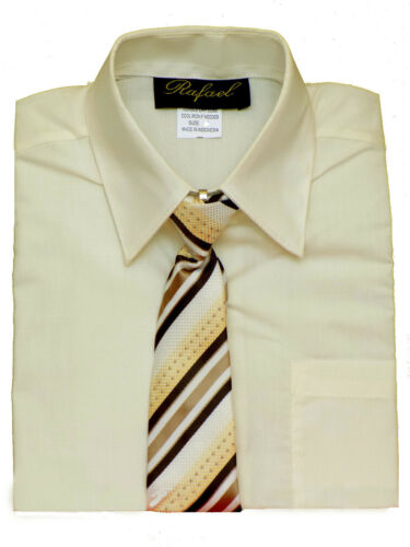 Special Event Short Sleeve Dress Shirt Size: 4 to 14 Ivory Boys Party