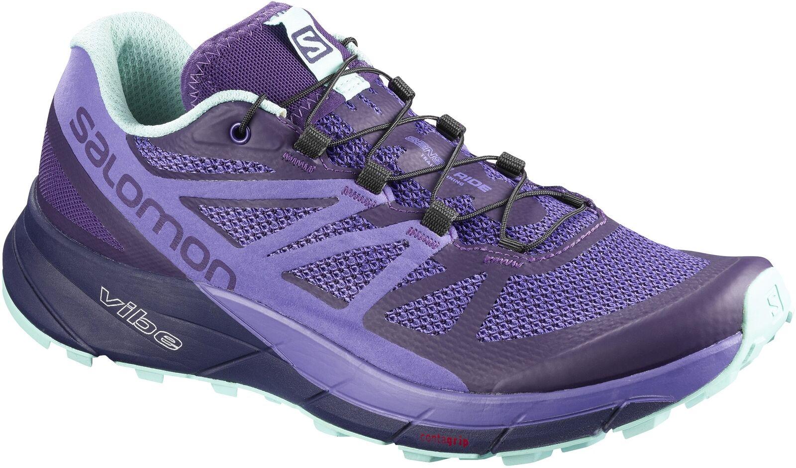 Salomon Mujer Trail Running Zapatos sentido Ride-Púrpura