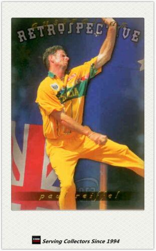 1996 Futera World Cup Cricket Trading Cards Retrospective AR11: Paul Reiffel
