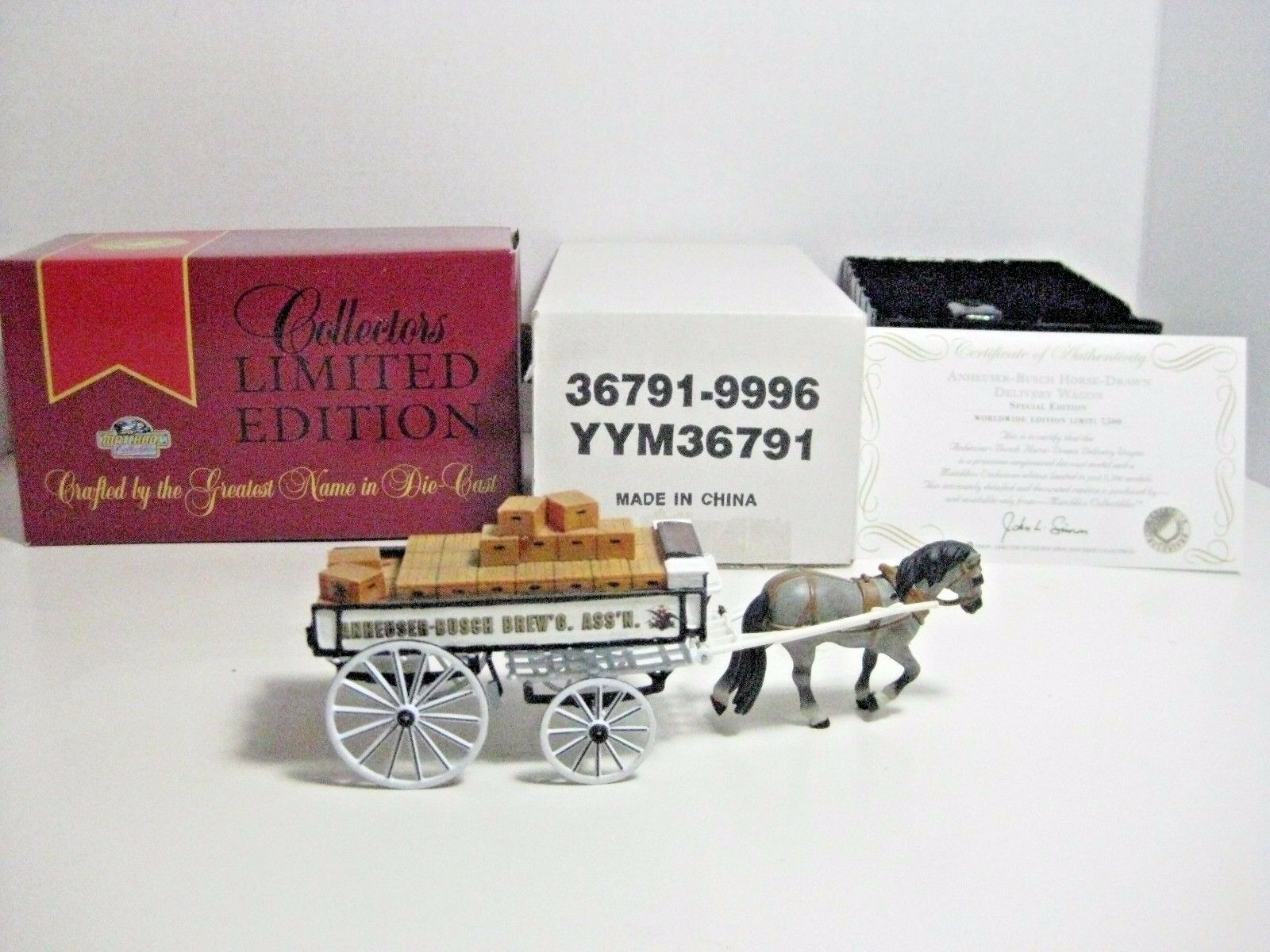 Matchbox Collectibles YYM36791 Anheuser-Busch Horse-Drawn Delivery Wagon 1997