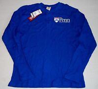 Penn Quakers Thermal T Shirt Long Sleeve Mens Blue M L Xl 2x Big Ball Sports