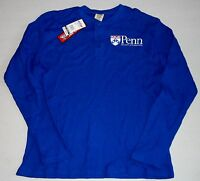 Penn Quakers Thermal T Shirt Long Sleeve Mens Blue M L Xl 2x Big Ball Sports
